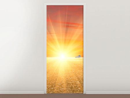 Door Mural The Sunset