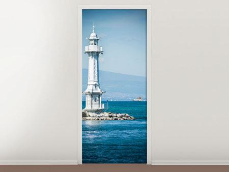 Door Mural Photowallpaper Geneva Lighthouse