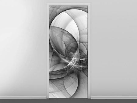 Door Mural Abstract Circle Circles