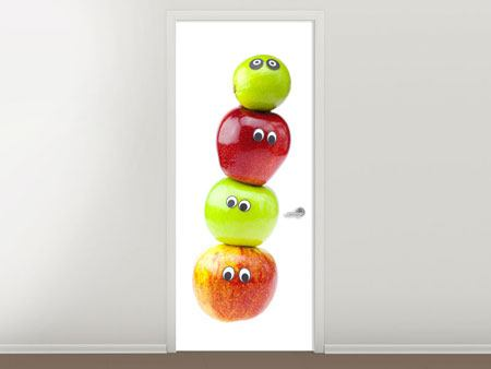 Door Mural Funny Fruit