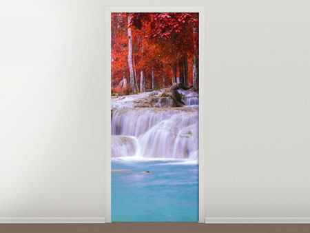 Door Mural Paradisiacal Waterfall