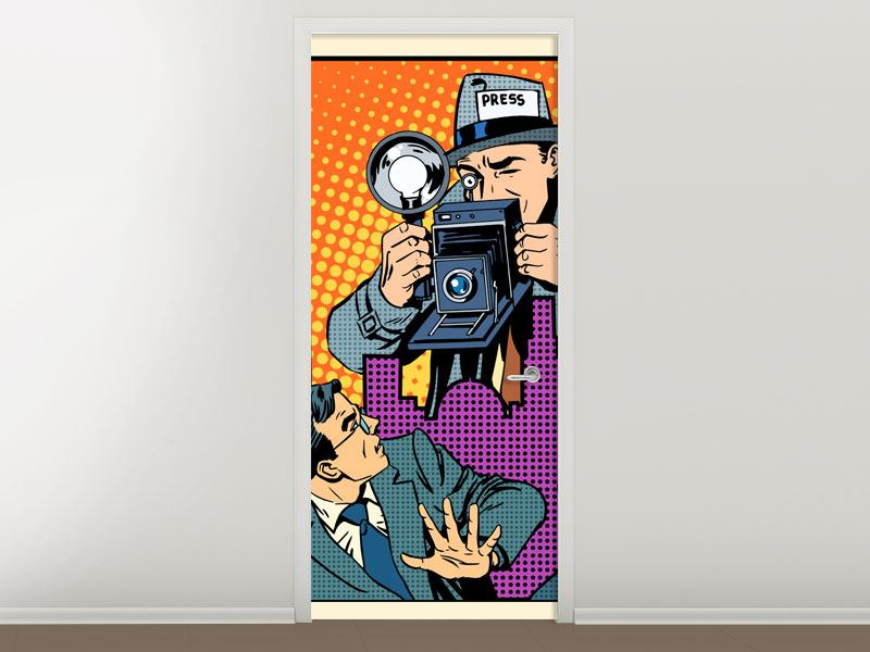 Door Mural Pop Art Paparazzi