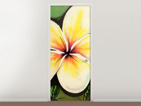 Door Mural Graffiti Flowers