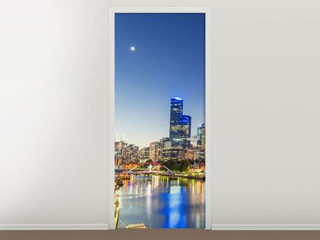 Door Mural Skyline Sydney At Dusk