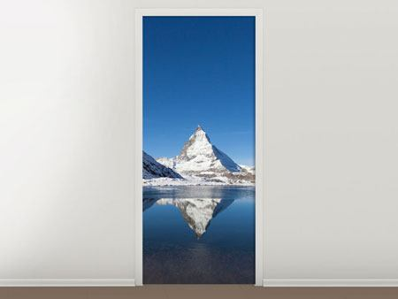 Door Mural The Riffelsee On Matterhorn