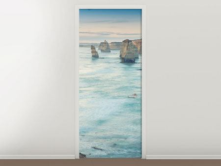 Door Mural Cliffs