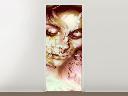 Door Mural Romantic Portrait Of A Beauty
