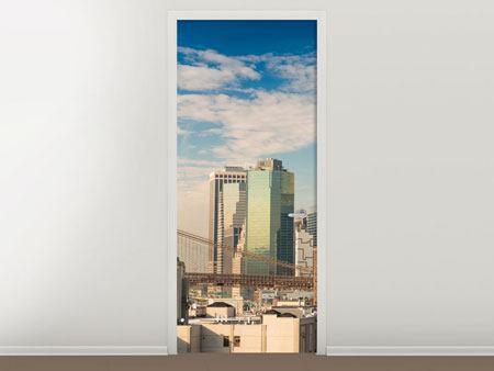 Door Mural New York Skyline