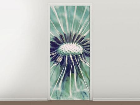 Door Mural Close Up Dandelion