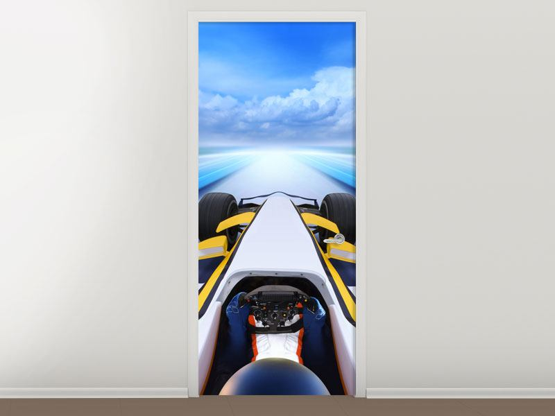 Door Mural In Racecar