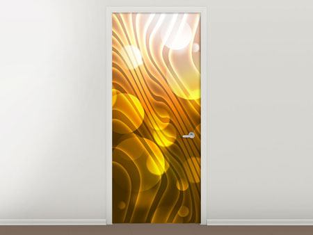 Door Mural Abstract Spherical Waves
