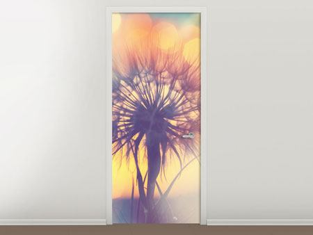 Door Mural The Dandelion In The Light