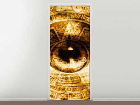 Door Mural Fractally eye