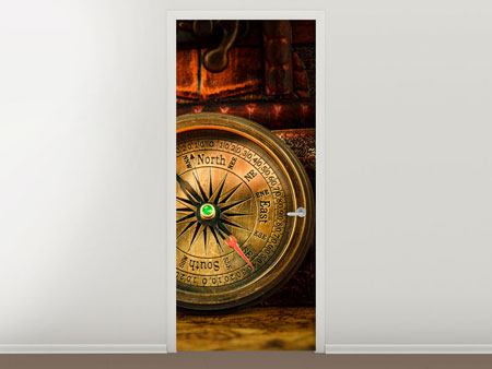 Door Mural Antique Compass