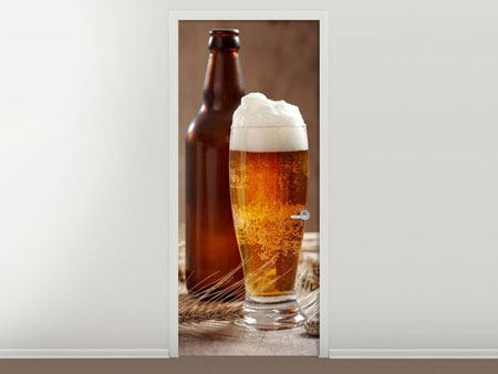 Door Mural Beer With Foam