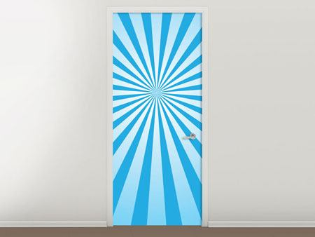 Door Mural Retro Waves Perspective