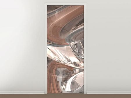 Door Mural Abstract Glass Tiles