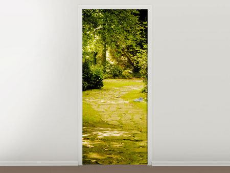 Door Mural Moss-Covered Path