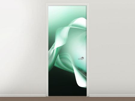 Door Mural Abstract Close Contact