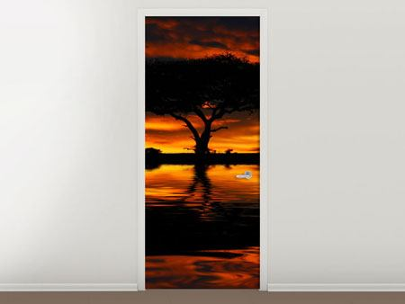 Door Mural Sunset In Kenya