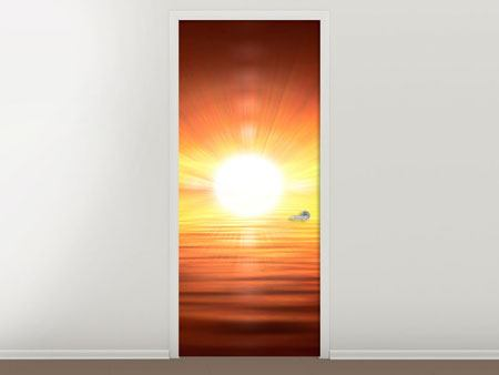 Door Mural Glowing Sunset