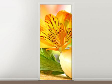 Door Mural Lily Breakfast
