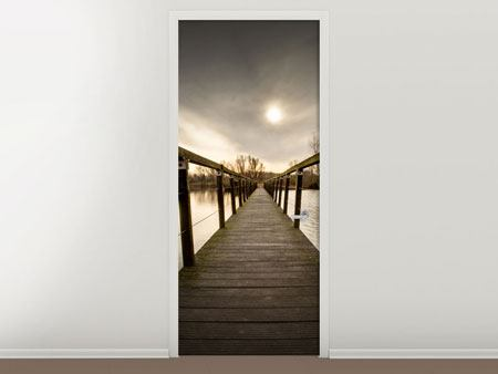 Door Mural The Wooden Bridge