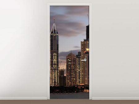 Door Mural Skyline Dubai At Sunset