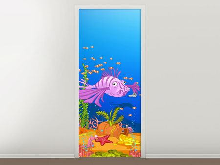 Door Mural Treasure Underwater