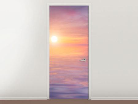 Door Mural Sunset by the Lake