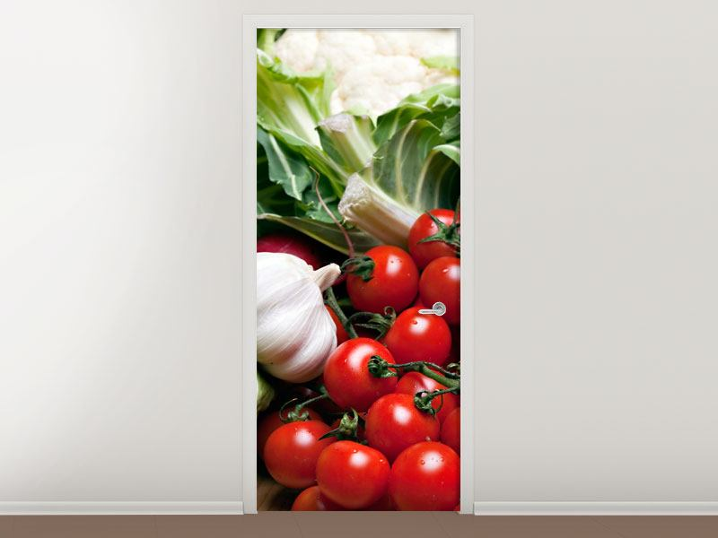 Door Mural Vegetables