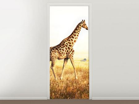Door Mural The Giraffe