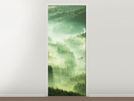 Door Mural Over The Woods