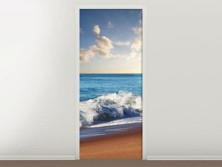 Door Mural The Waves Of The Sea