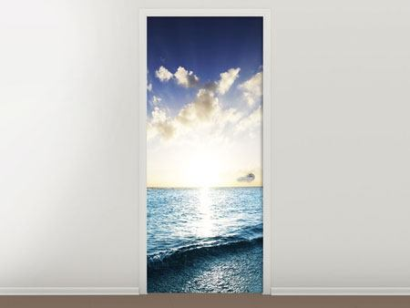 Door Mural The Sea At Sunrise