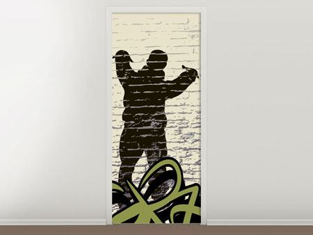 Door Mural Graffiti Hip Hop
