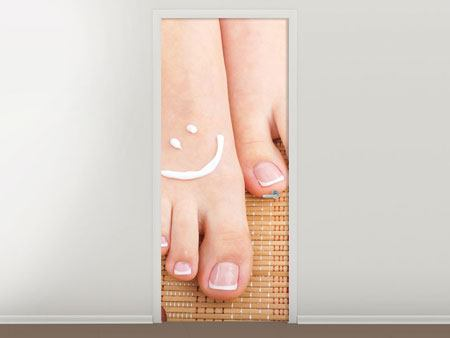 Door Mural Beautiful Feet
