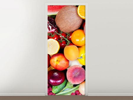 Door Mural Fresh Fruit