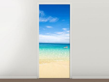 Door Mural Blue Lagoon & Sky