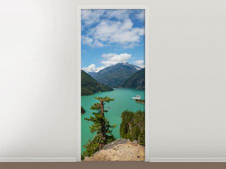 Door Mural Diablo Lake
