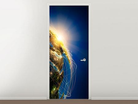 Door Mural Our Planet Earth