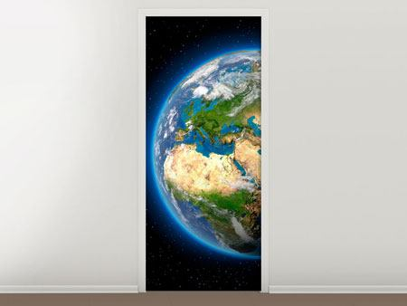 Door Mural The Earth As A Planet