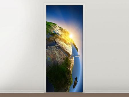 Door Mural Sun And Earth