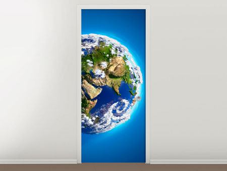 Door Mural Planet Earth