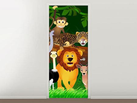 Door Mural Jungle King