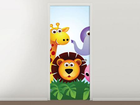Door Mural Jungle