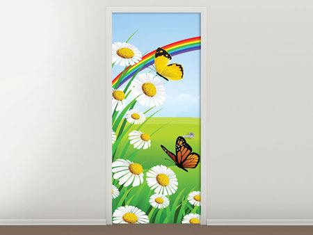Door Mural The Colorful Rainbow