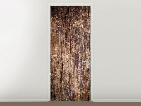 Door Mural Retro Wood
