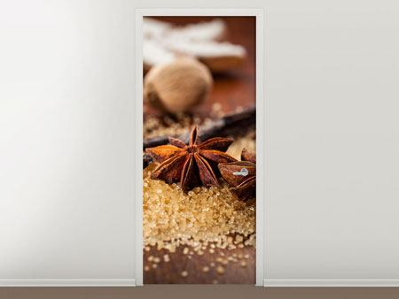 Door Mural Christmas Spices