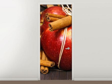 Door Mural Apples